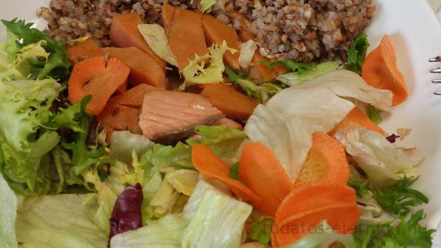 Csirkés saláta hajdinával